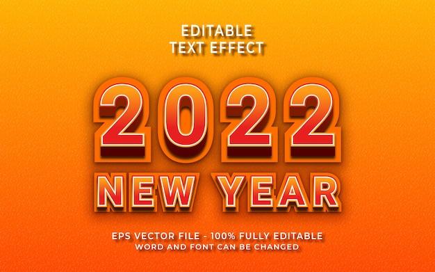 Effet de texte modifiable du nouvel an 2020