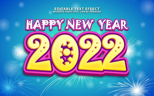 Effet de texte modifiable du nouvel an