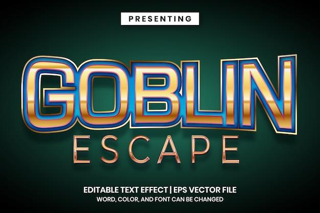 Effet de texte modifiable du titre du jeu d'évasion gobelin