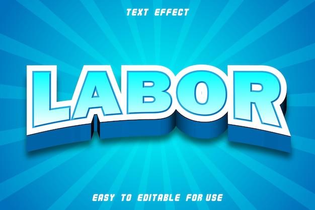 Effet de texte modifiable du travail en relief dans un style moderne