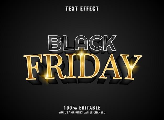 Effet de texte modifiable du vendredi noir doré
