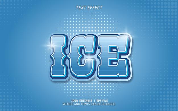 Effet de texte modifiable, effet de glace
