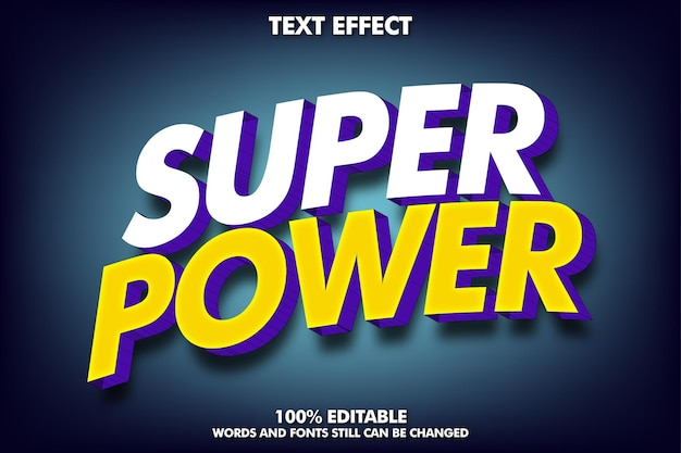 Effet de texte modifiable effet de texte 3d moderne pour titre et autocollant
