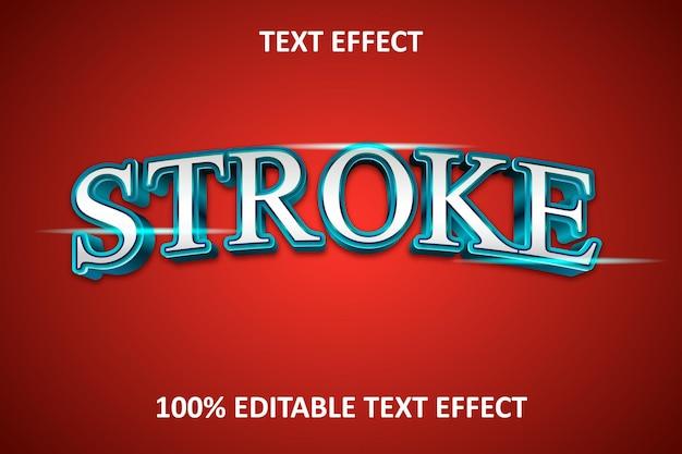 Effet de texte modifiable élégant bleu argent rouge