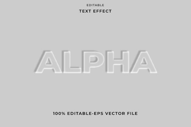 Effet de texte modifiable emboss style alpha