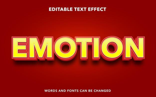 Effet de texte modifiable d'émotion