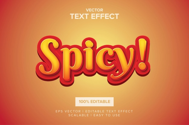 Effet de texte modifiable épicé chaud