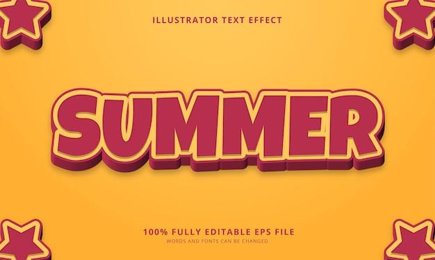 Effet de texte modifiable d'été