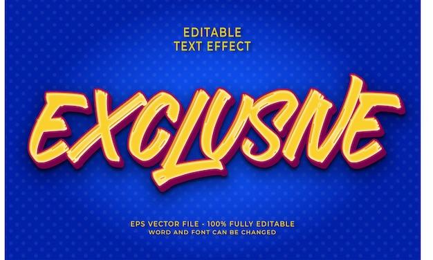 Effet de texte modifiable exclusif
