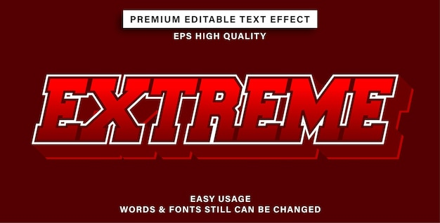 Effet de texte modifiable extrême