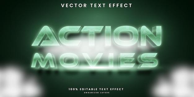 Effet de texte modifiable de films