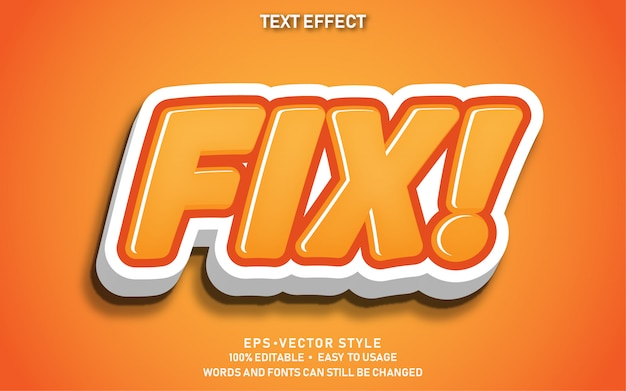 Effet de texte modifiable fix mignon