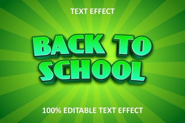 Effet de texte modifiable de forêt comique vert