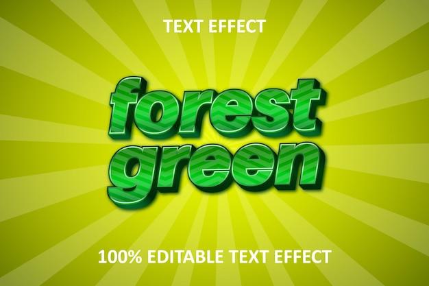 Effet de texte modifiable de forêt forêt verte