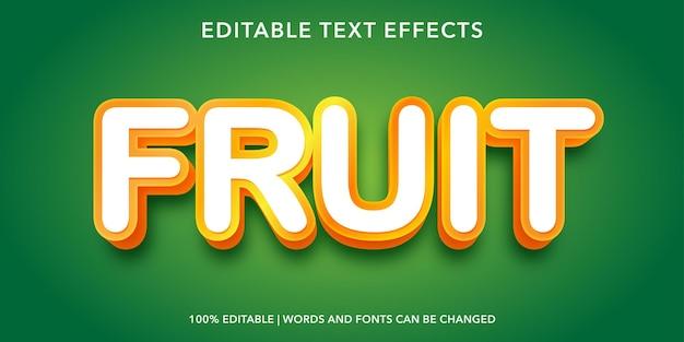 Effet de texte modifiable de fruits
