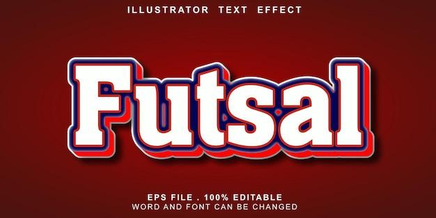 Effet de texte-modifiable-futsal