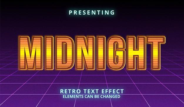 Effet de texte modifiable futuriste rétro