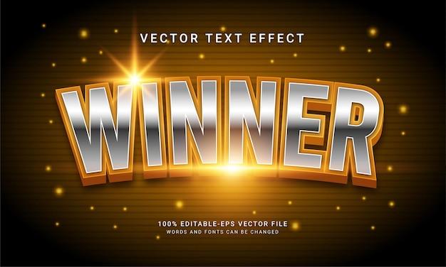 Effet de texte modifiable gagnant