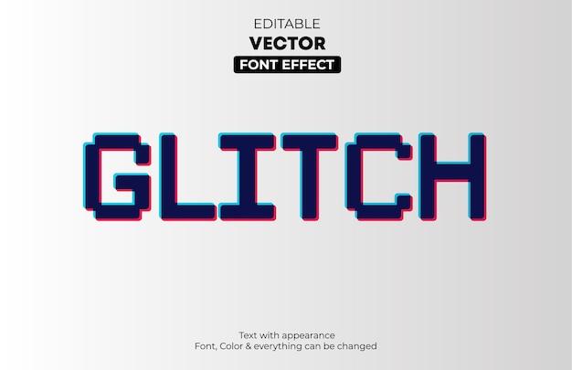 Effet de texte modifiable glitch