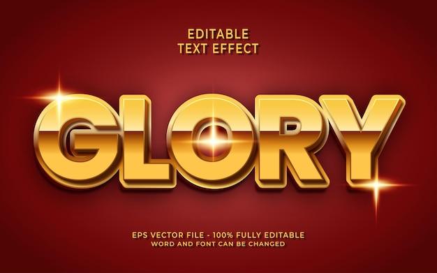 Effet de texte modifiable de gloire