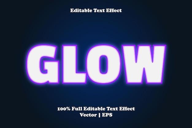Effet de texte modifiable glow