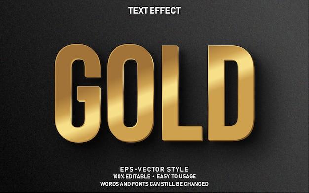 Effet de texte modifiable gold