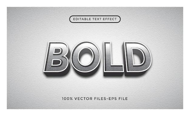 Effet de texte modifiable en gras - illustrateur vecteur premium