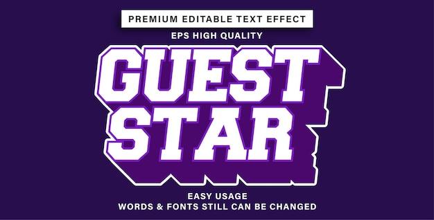 Effet de texte modifiable guest star