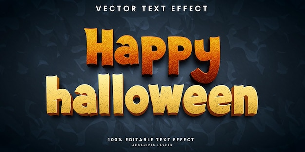 Effet de texte modifiable halloween
