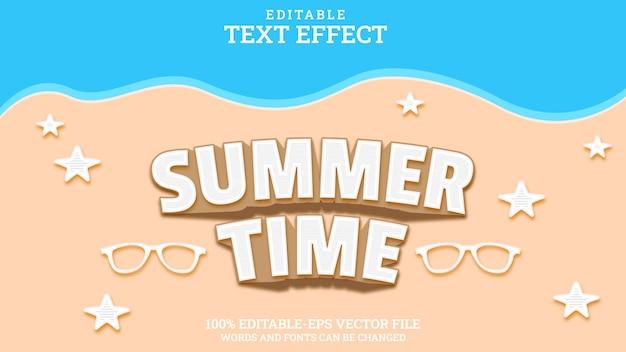 Effet de texte modifiable heure d'été