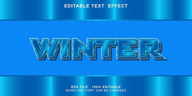 Effet de texte modifiable d'hiver