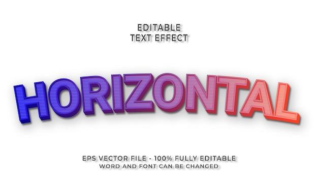 Effet de texte modifiable horizontal
