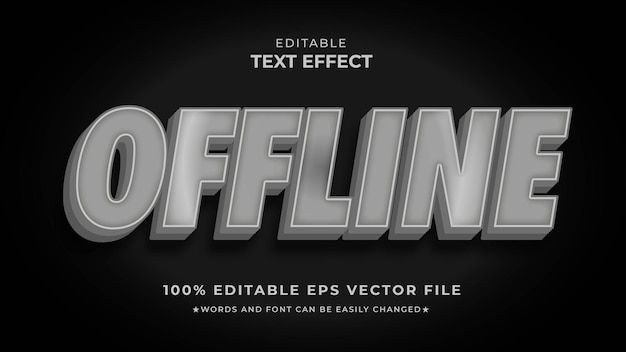 Effet de texte modifiable hors ligne