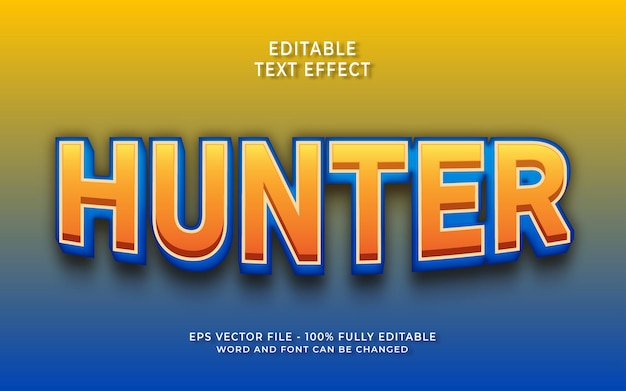 Effet de texte modifiable hunter