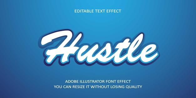 Effet de texte modifiable hustle