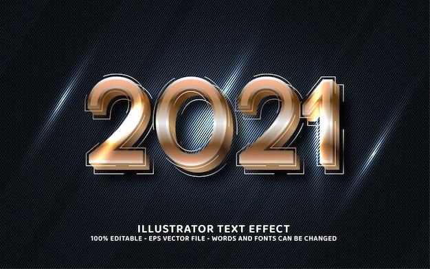 Effet de texte modifiable, illustrations de style 2021