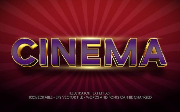 Effet de texte modifiable, illustrations de style cinéma