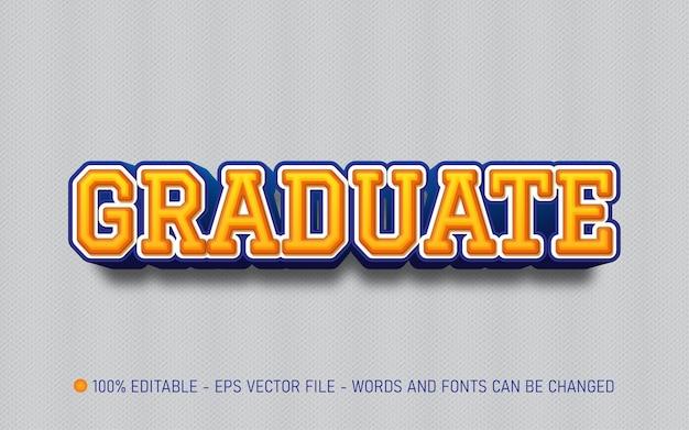 Effet de texte modifiable illustrations de style diplômé