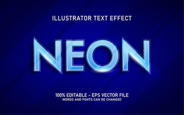 Effet de texte modifiable, illustrations de style néon