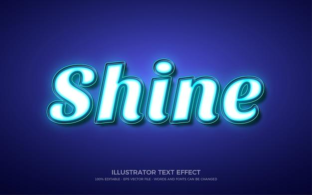 Effet de texte modifiable, illustrations de style shine