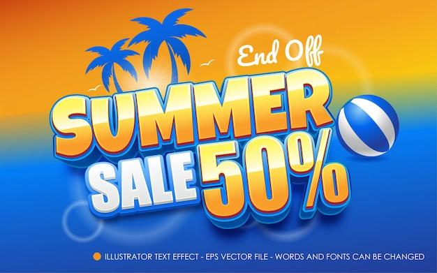 Effet de texte modifiable, illustrations de style summer sale