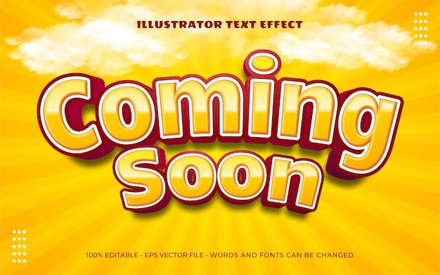 Effet de texte modifiable, illustrations de style à venir