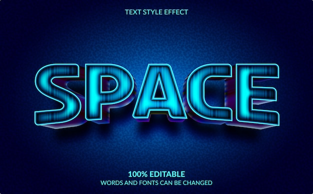 Effet de texte modifiable isolé sur bleu