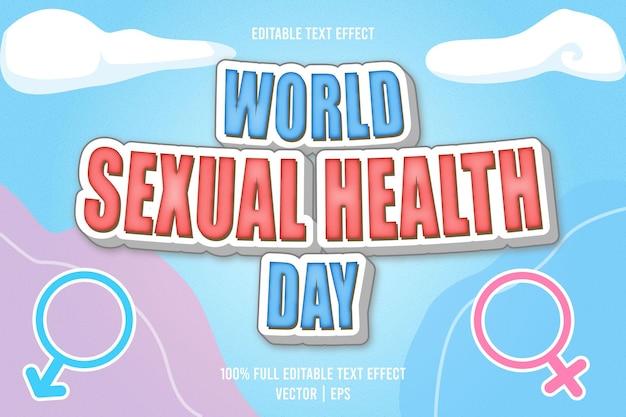 Effet de texte modifiable de la journée mondiale de la santé sexuelle