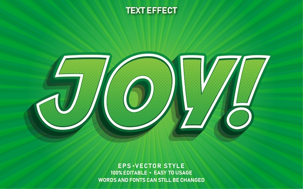 Effet de texte modifiable joy comic premium