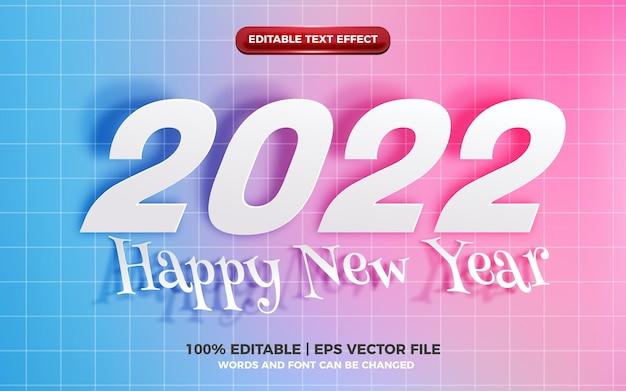 Effet de texte modifiable joyeux anniversaire avec un style de dessin animé mignon arc-en-ciel