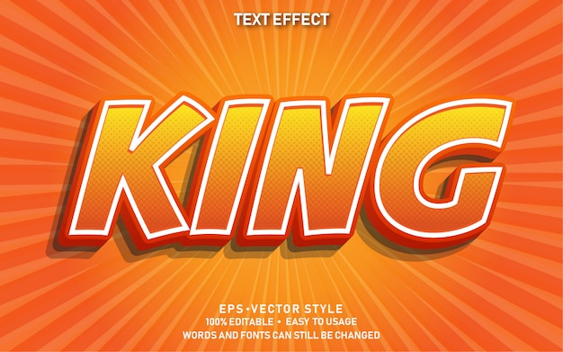 Effet de texte modifiable king comic