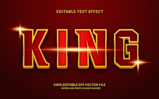 Effet de texte modifiable king