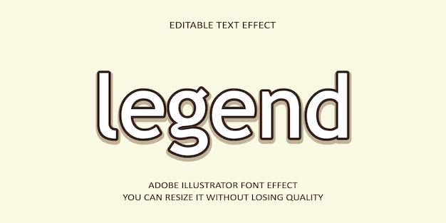 Effet de texte modifiable de légende