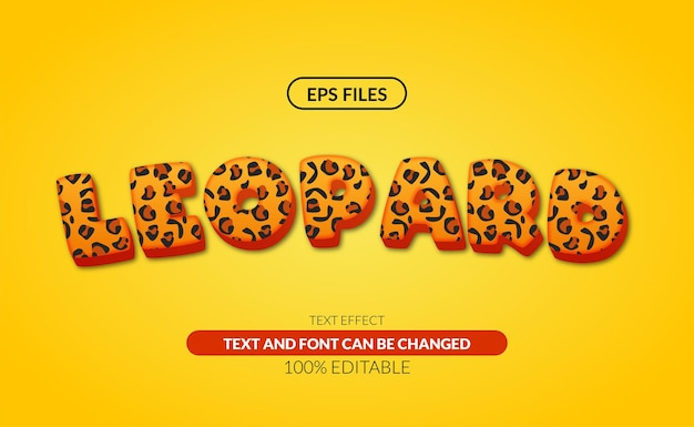 Effet de texte modifiable léopard 3d.